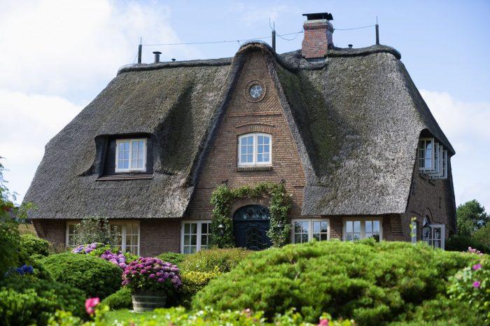 Reetdachhaus mit Garten auf Sylt